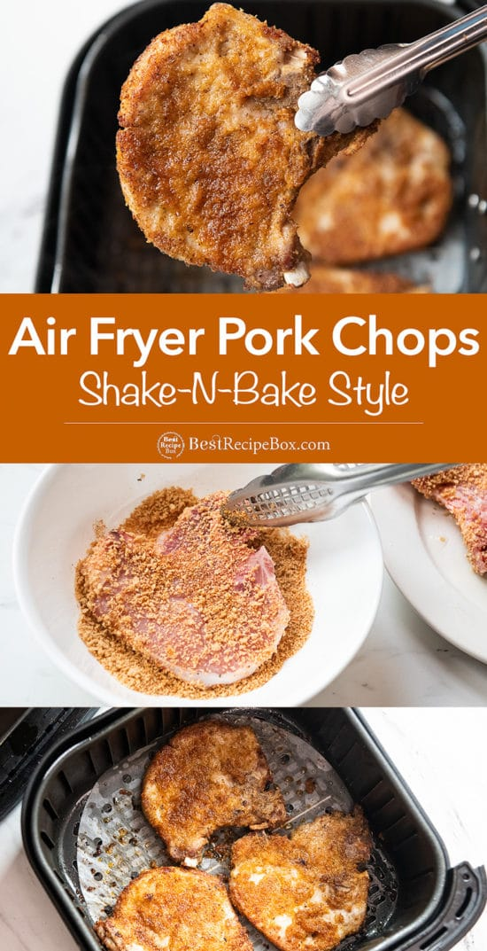 Air Fryer Shake N Bake Pork Chops Recipe | BestRecipeBox.com