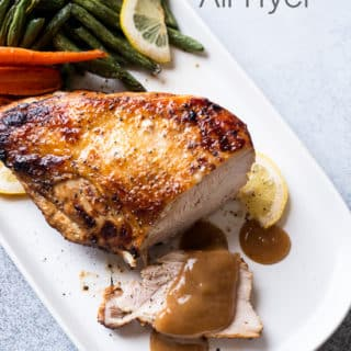 Air Fried Turkey Breast Recipe in the Air Fryer with Lemon Pepper or Herbs | @BestRecipeBox
