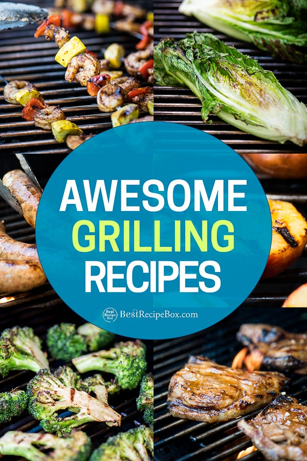 Grilled Meat, Chicken, Seafood, Pork and Vegetables on the BBQ | BestRecipeBox.com