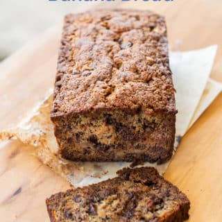 Chocolate Chip Banana Bread Recipe with Ripe Bananas | BestRecipeBox.com