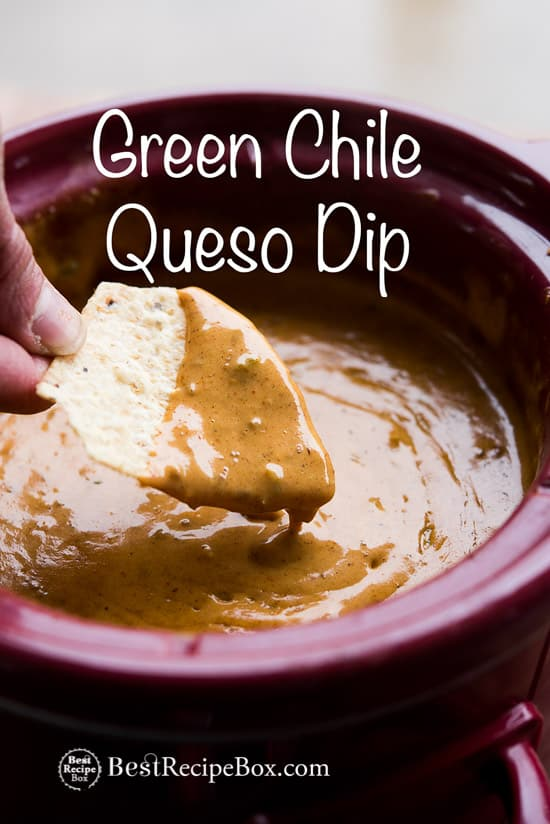 Slow Cooker Green Chile Queso Dip Recipe is Amazing!   @bestrecipebox