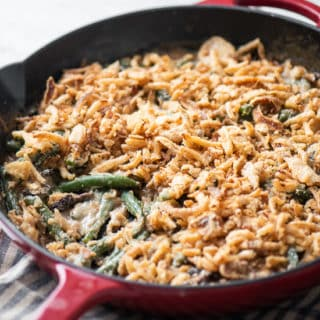 Fresh Green Bean Casserole Recipe with Fried Onions @bestrecipebox