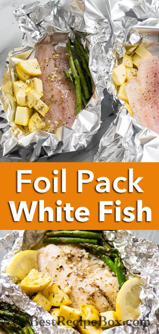 Garlic Butter White Fish Foil Pack | Healthy White Fish Recipe @bestrecipebox