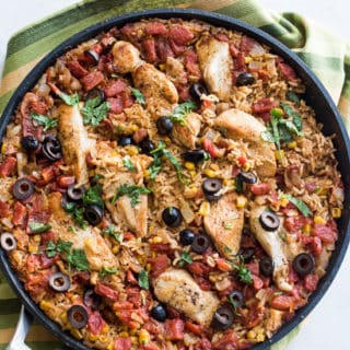 One Pot Taco Chicken and Rice Recipe is an easy Mexican Dinner   @bestrecipebox