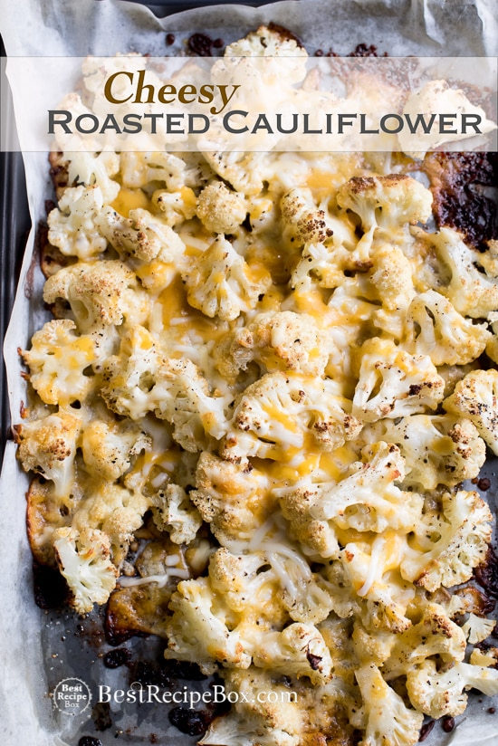 Cheesy Roasted Cauliflower Recipe is Low Carb and Delicious | @bestrecipebox