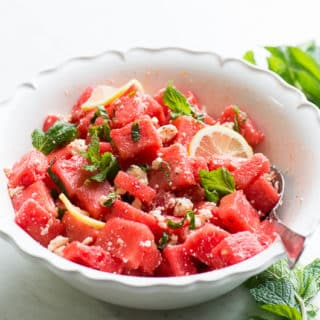Refreshing Healthy Watermelon Salad Recipe with Mint for Summer   @bestrecipebox